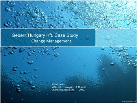 Mba Hungary Kft by Change Management At Geberit Ltd Study