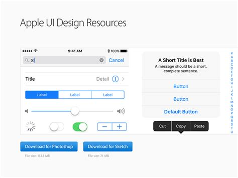 app design resources apple ui design resources for photoshop and sketch