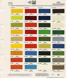 volkswagen 1975 color codes volkswagen colors and paint