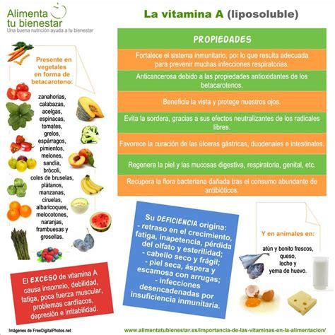 la importancia de las vitaminas en la alimentacion