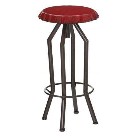 bar stool top buy red bottle top style industrial bar stool from fusion