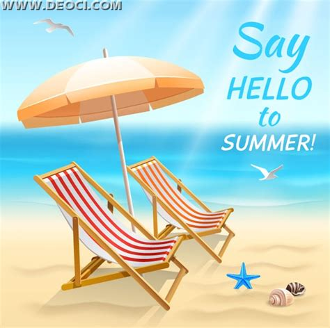 summer themes cool summer theme vector eps free deoci