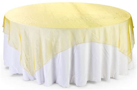 sheer overlay gold organza square table sheet