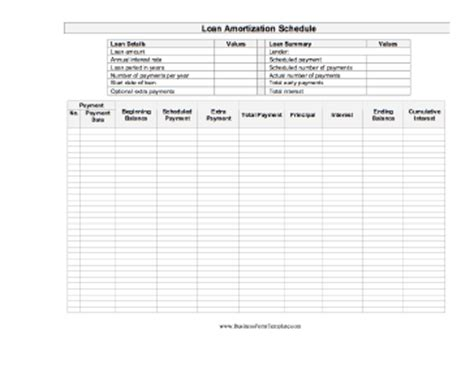 Amortization Schedule Template Repayment Schedule Template