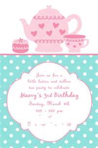tea invites invitations templates