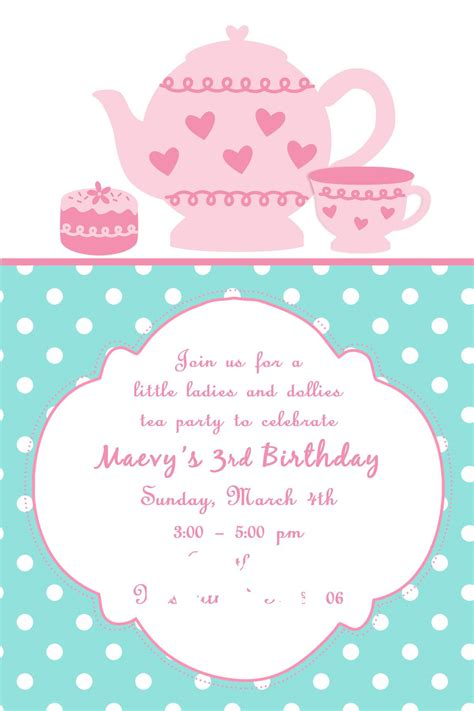 Tea Party Invites Party Invitations Templates Teacup Invitations Template