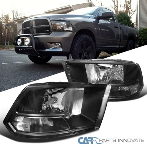 2012 dodge ram 1500 headlights 2009 2012 dodge ram 1500 2500 3500 black