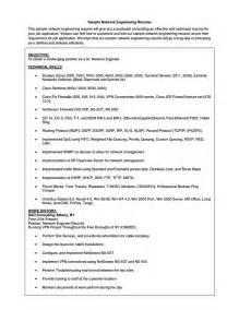 Best Resume Sles For Network Engineer Network Engineer Resume Doc Free Resume Templates