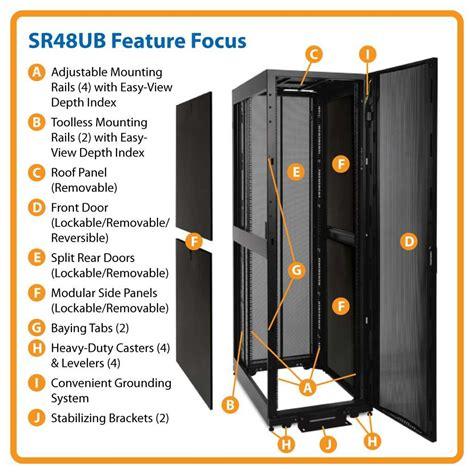 48u Rack by Tripp Lite Sr48ub 48u Rack Enclosure Server