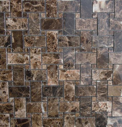 Bathroom Tile Ideas On A Budget dark emperador brown marble basketweave tile from classic