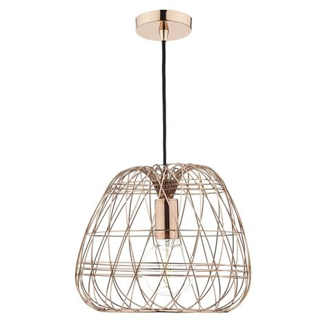 Contemporary Ceiling Pendant Light With Geometric Copper Wire Light Pendant