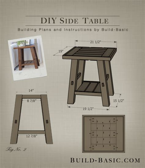 build  diy side table building plans  atbuildbasic www