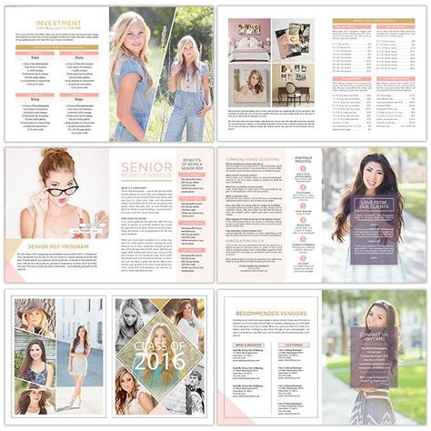 photography magazine template 114 best seniors albums cards images on