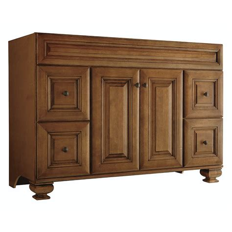 lowes 48 bathroom vanity shop freshfit ballantyne mocha with glaze 48