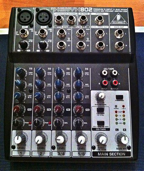 Mixer Xenyx 802 behringer xenyx 802 image 490538 audiofanzine