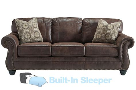 Breville Brown With Nailhead Sleeper Sofa At Gardner White Nailhead Sleeper Sofa