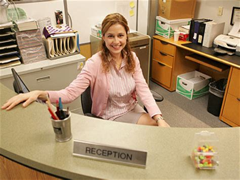 Office Receptionist Yeah Jim And Pam