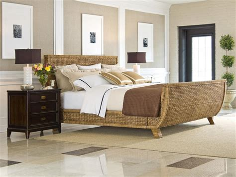 cancun palm tropical rattan and wicker 4 piece bedroom rattan bedroom furniture home design plan