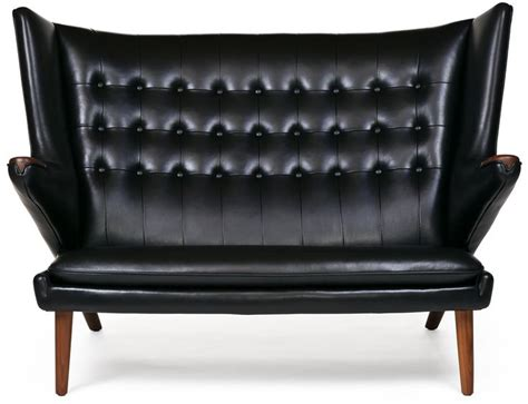 papa chair modernica papa loveseat in black leather by modernica