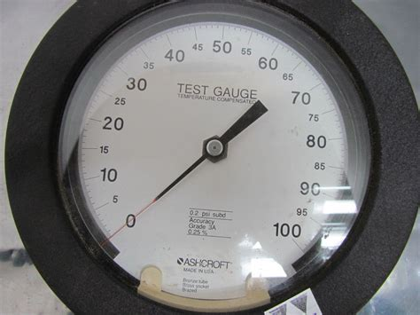 Temperature Ashcroft Ashcroft Grade 3a Temperature Compensated Test Type