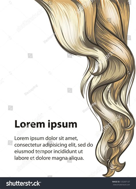 Hair Style And Hair Care Design Template Stock Vector Illustration 133287137 Shutterstock Hair Design Templates