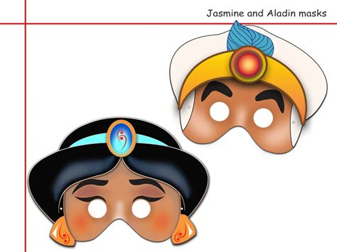 printable mask disney unique 2 jasmine and aladin printable masks party mask