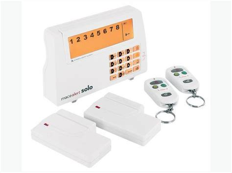 mace home security wireless alarm system kit city