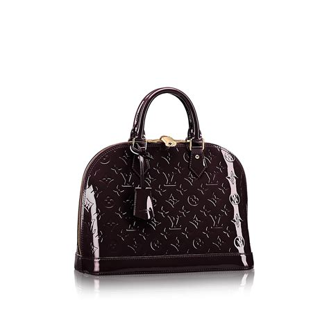 Alma Glossy Mini Size By Lv With Limited Lv Box 2017 Code M91606 alma pm monogram vernis leather handbags louis vuitton