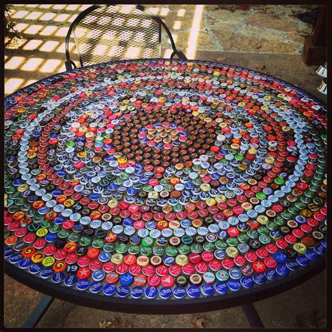 bottle cap table 1213 convent st pinterest
