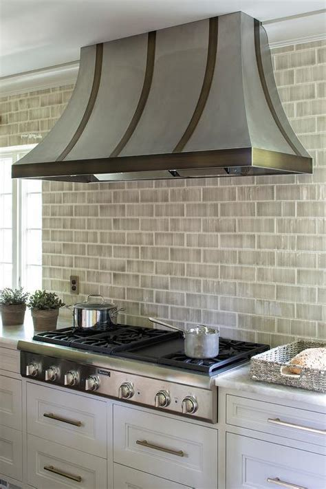 brick tile kitchen backsplash kitchen gray subway tiles design ideas