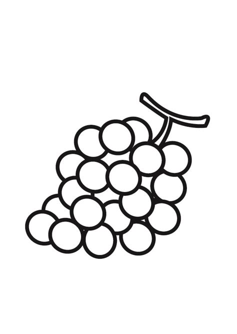 grapes coloring pages to print for kids