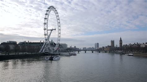 london eye themes london united kingdom december 2 2013 boats passing