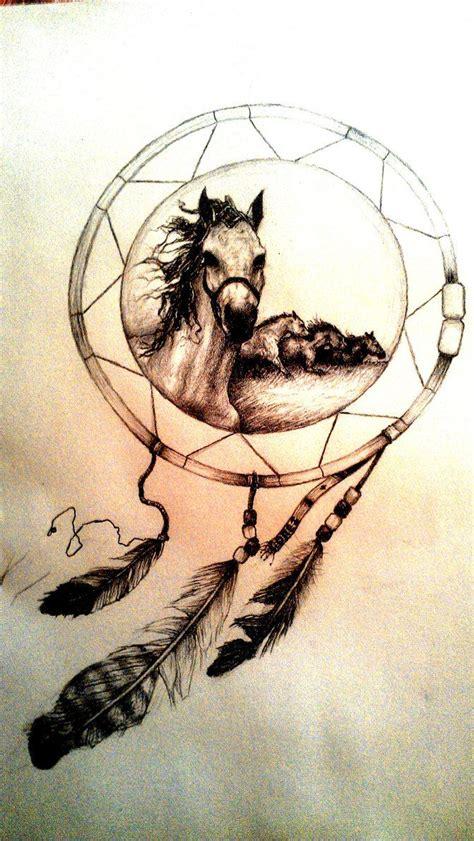 dreamcatcher horseshoe tattoo dreamcatcher tattoos google search tattoos pinterest