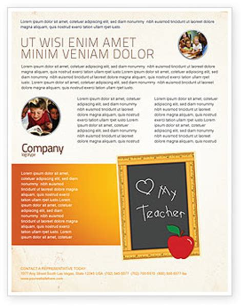 teacher brochure template