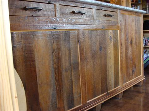 Recycled Kitchen Doors by Reclaimed Barnwood Kitchen Cabinets Barn Wood Furniture