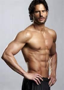 joe manganiello shirtless in black shorts