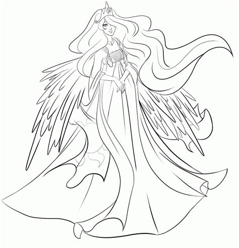 coloring pages princess celestia princess celestia coloring page az coloring pages