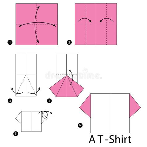 How To Make A Paper T Shirt Step By Step - step by step how to make origami a t shirt