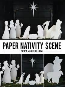 paper nativity scene inspiration made simple