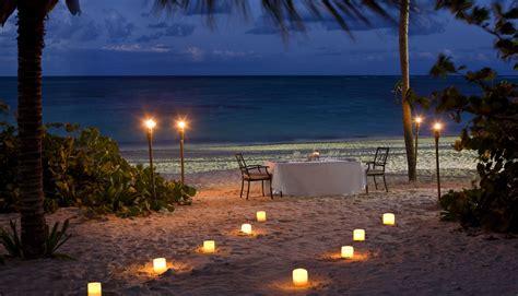 Tiki Hut Bar And Grill Night Beach Dinner Candles Ocean Romance Sunset Beach