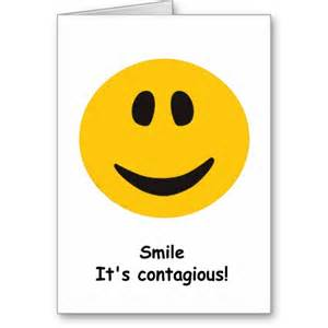 contagious smile greeting card from zazzle