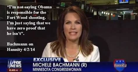 Michele Bachmann Meme - facebook post says michele bachmann said we have zero
