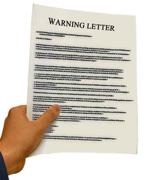 Response Warning Letter Warning Letters Roadmap To Corrective
