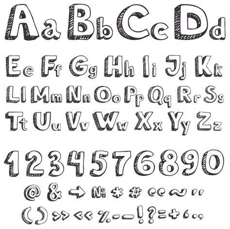 lettere vettoriali lettere vettoriali di disegno a mano scaricare vettori