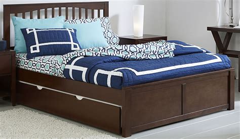 queen trundle beds pulse chocolate mission queen panel bed with trundle