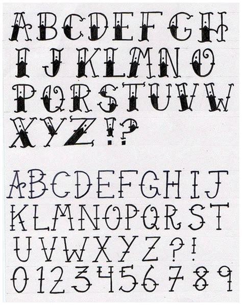 tattoo fonts vintage lettering school popular design