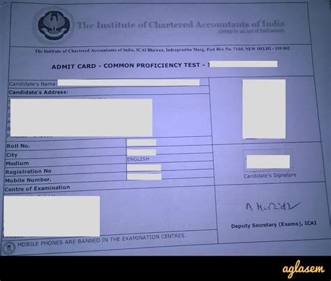 tsa notification card template icai ca cpt admit card may 2018 icaiexam icai org