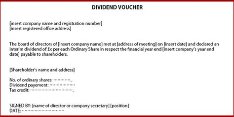 dividend certificate template how to issue dividends in a company limited by shares