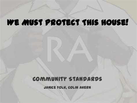 we must protect this house we must protect this house