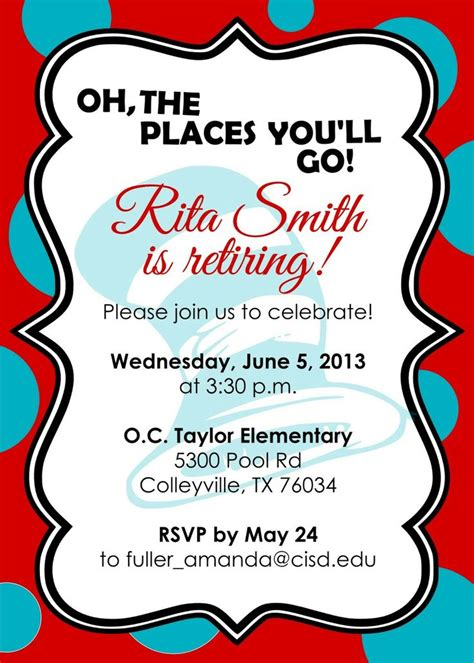 invitation template retirement party free best image for free